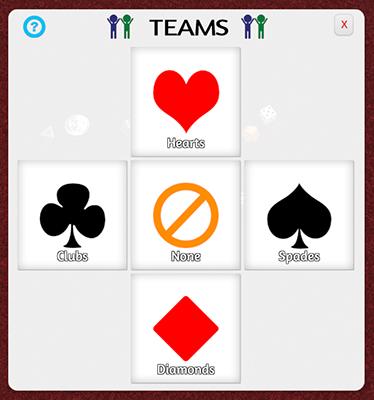 Teams Menu