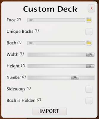 Custom Deck Settings