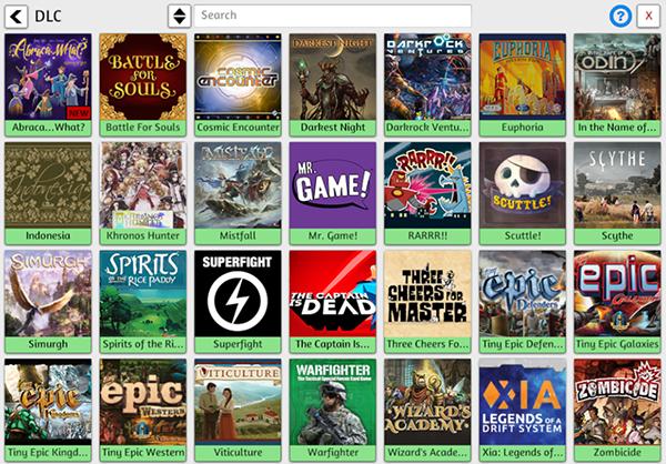 Games Menu - DLC